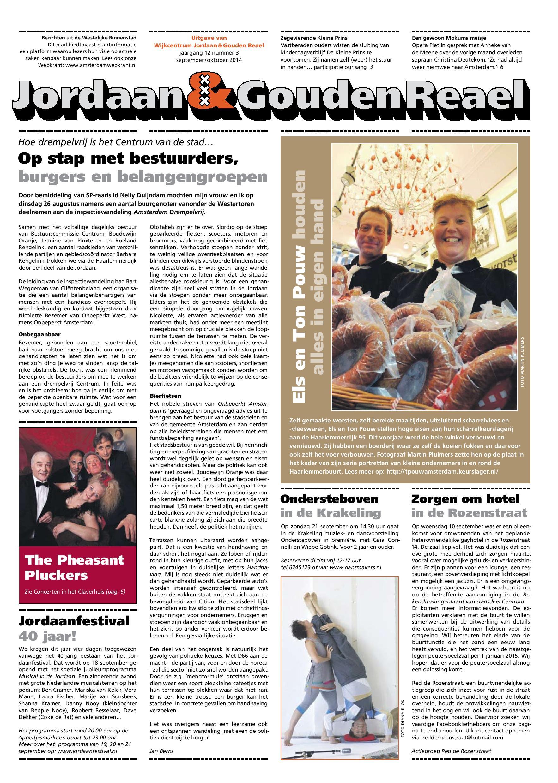Webkrant Jordaan & Gouden Raeal - sept. en okt. 2014